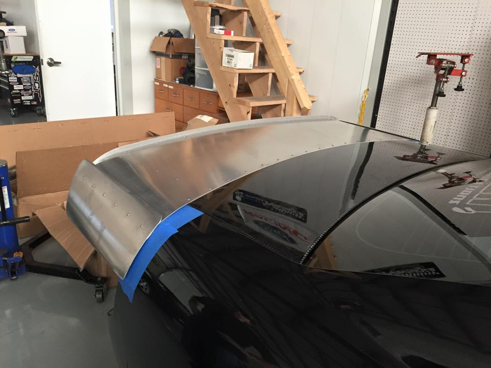 Mustang Drag Wing, Mustang Wing, Maryland Race Car Fabrication, Maryland Header Fabrication, Header Fabrication, Custom Headers, Pennsylvania Race Car Fabrication, Virginia Race Car Fabrication, New York Race Car Fabrication, Delaware Race Car Fabrication, Race Car Parts, Custom Race Car Parts, HFR Fabrication, HFR Fab